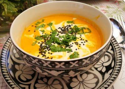 Karrotten-Orangen-Rohkost-Suppe